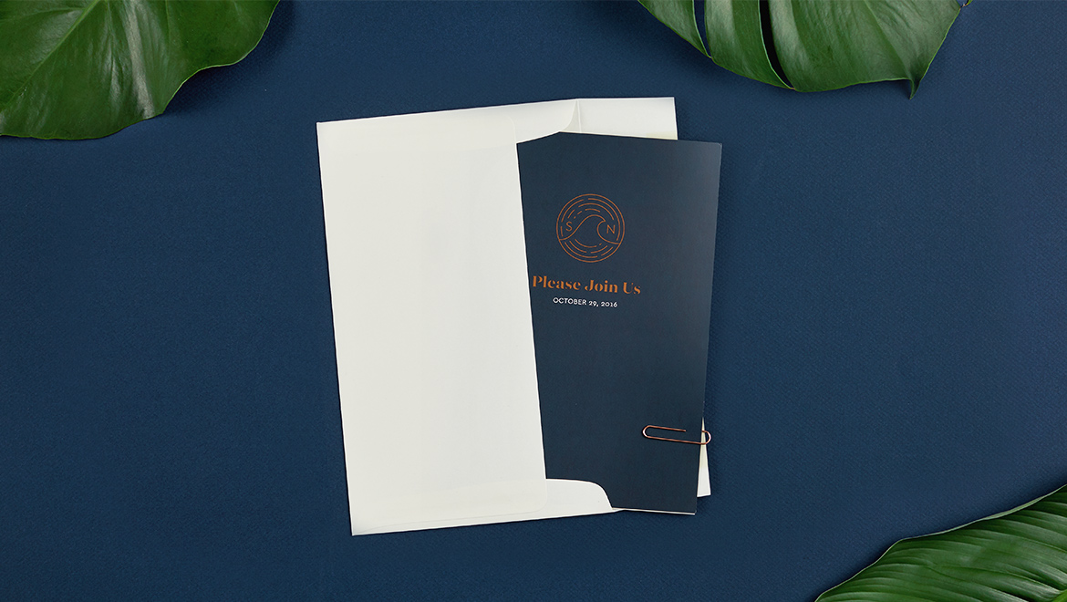Sveiven Tropical Garden Wedding Invites